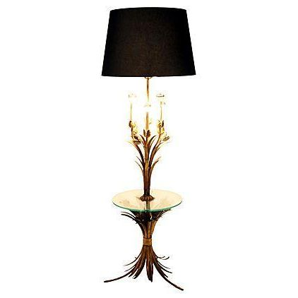 Sheaf of Wheat Gilt Floor Lamp - Image 1 of 6