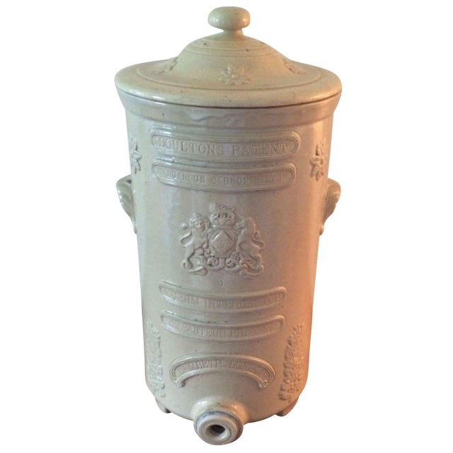English Ceramic Water Purifier Circa 1880s For Sale
