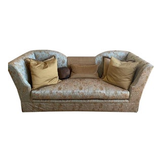 Marge Carson Custom Silk Sofa and Pillows For Sale