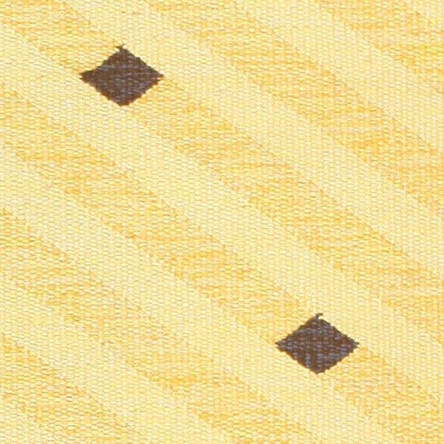 Mid 20th Century Vintage Scandinavian Yellow and Gold Rug - 5′5″ × 7′9″ For Sale - Image 5 of 7
