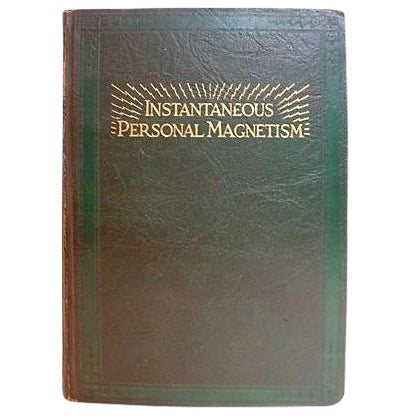 1930s 'Instantaneous Personal Magnetism' Book For Sale