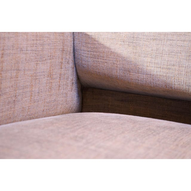 Edward Wormley for Dunbar Sofa With Brass Feet For Sale - Image 9 of 13