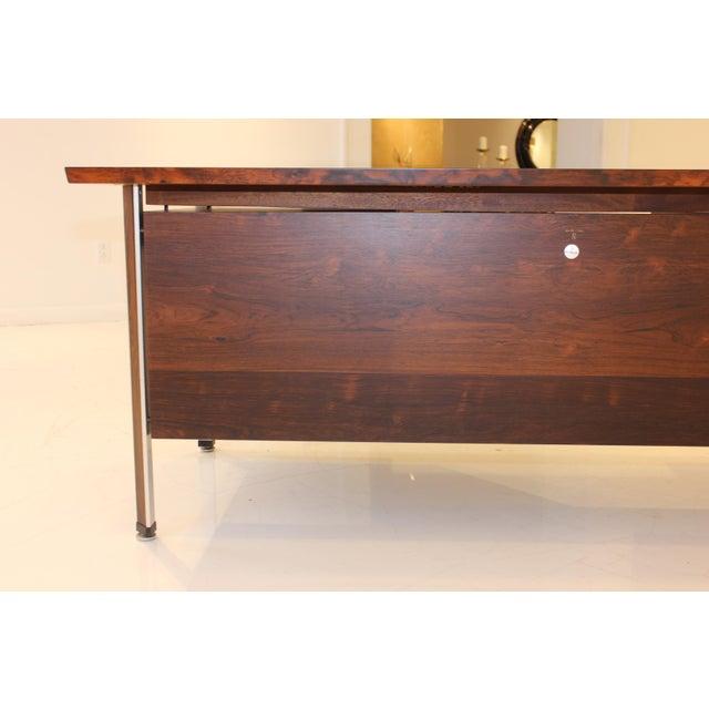 Mid-Century Modern Finn Juhl Rosewood Executive Desk For Sale - Image 3 of 13