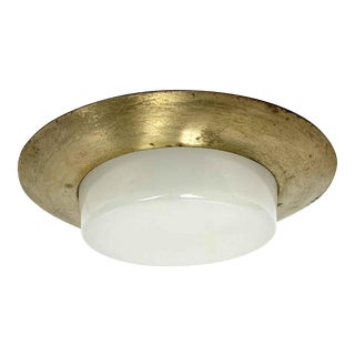 Mid Century Recessed Ceiling Light With Milk Glass Lens For Sale