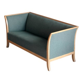 Frits Henningsen Style Two-Seat Sofa in Oak by Søren Willadsen, Denmark, 1940s For Sale