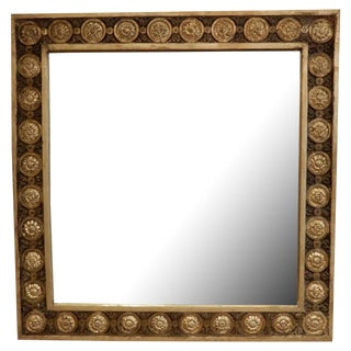 Early 19th C. Italian Gold Leaf Mirror For Sale