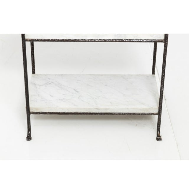 Contemporary Iron and Marble Shelves - a Pair For Sale In New York - Image 6 of 9