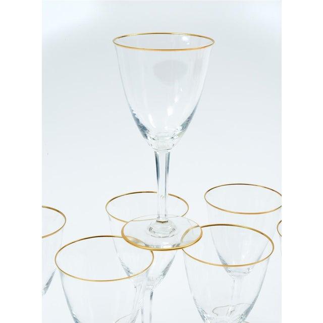 Art Deco Baccarat Crystal Barware / Tableware Glassware - Set for 8 For Sale - Image 3 of 11