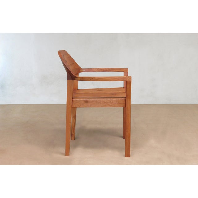 Mid Century Modern Dining or Desk Chairs Sustainably Sourced Royal Mahogany. Xiloa Chairs - 4 - Image 3 of 9