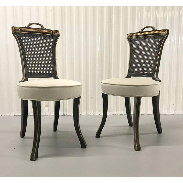 1960s 1960s Neoclassical Side Chairs — a Pair For Sale - Image 5 of 11