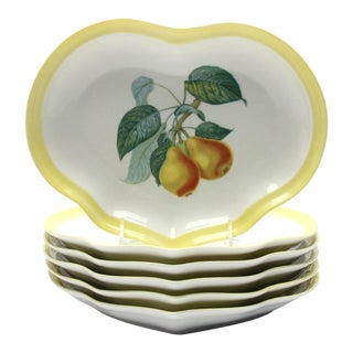 Mottahedeh Visa Alegre Pear Fruit Plates - Set of 6 For Sale
