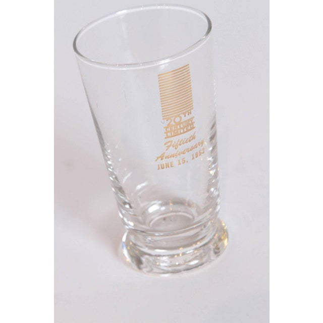Transparent Art Deco 20th Century Limited Glassware, Fiftieth Anniversary 1952, in Box For Sale - Image 8 of 11