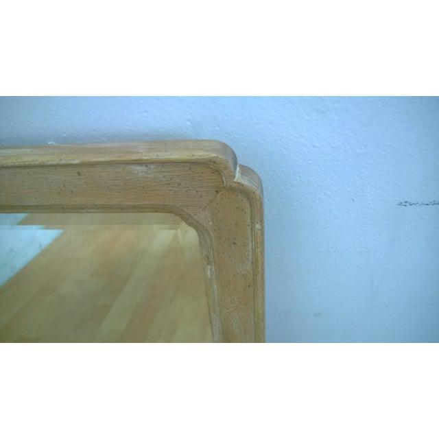 Hendredon Vintage Washed Oak & Steel Mirror - Image 3 of 3