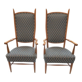 1950s Vintage Paolo Buffa Style Highback Chairs- a Pair For Sale