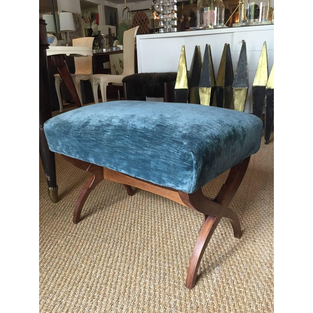 Hollywood Regency Exceptional Tomaso Buzzi Mahogany Bench For Sale - Image 3 of 3