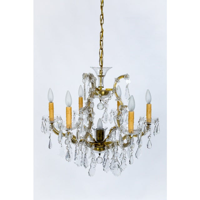 1920s Maria Theresa Style Crystal Seven-Light Chandelier For Sale - Image 13 of 13