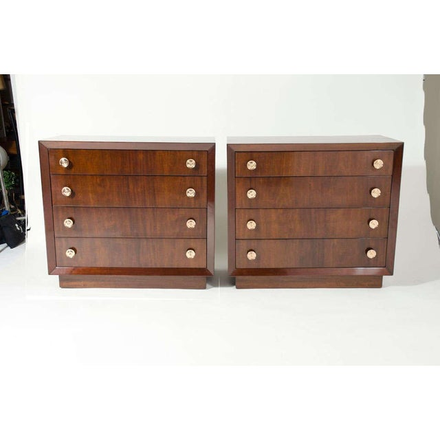 Mid-Century Modern Pair of Bachelor's Chests by Modern Age For Sale - Image 3 of 10