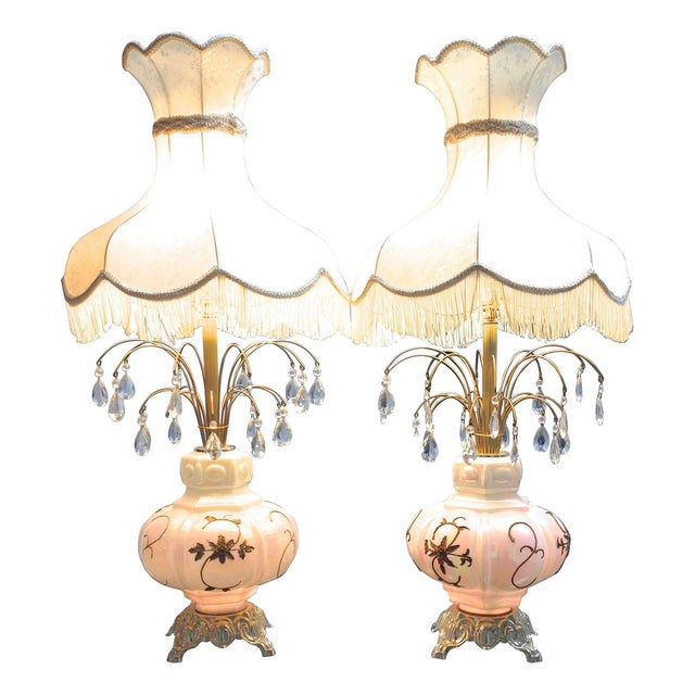 Fabulous Italian Victorian Lamps - a Pair - Image 1 of 7