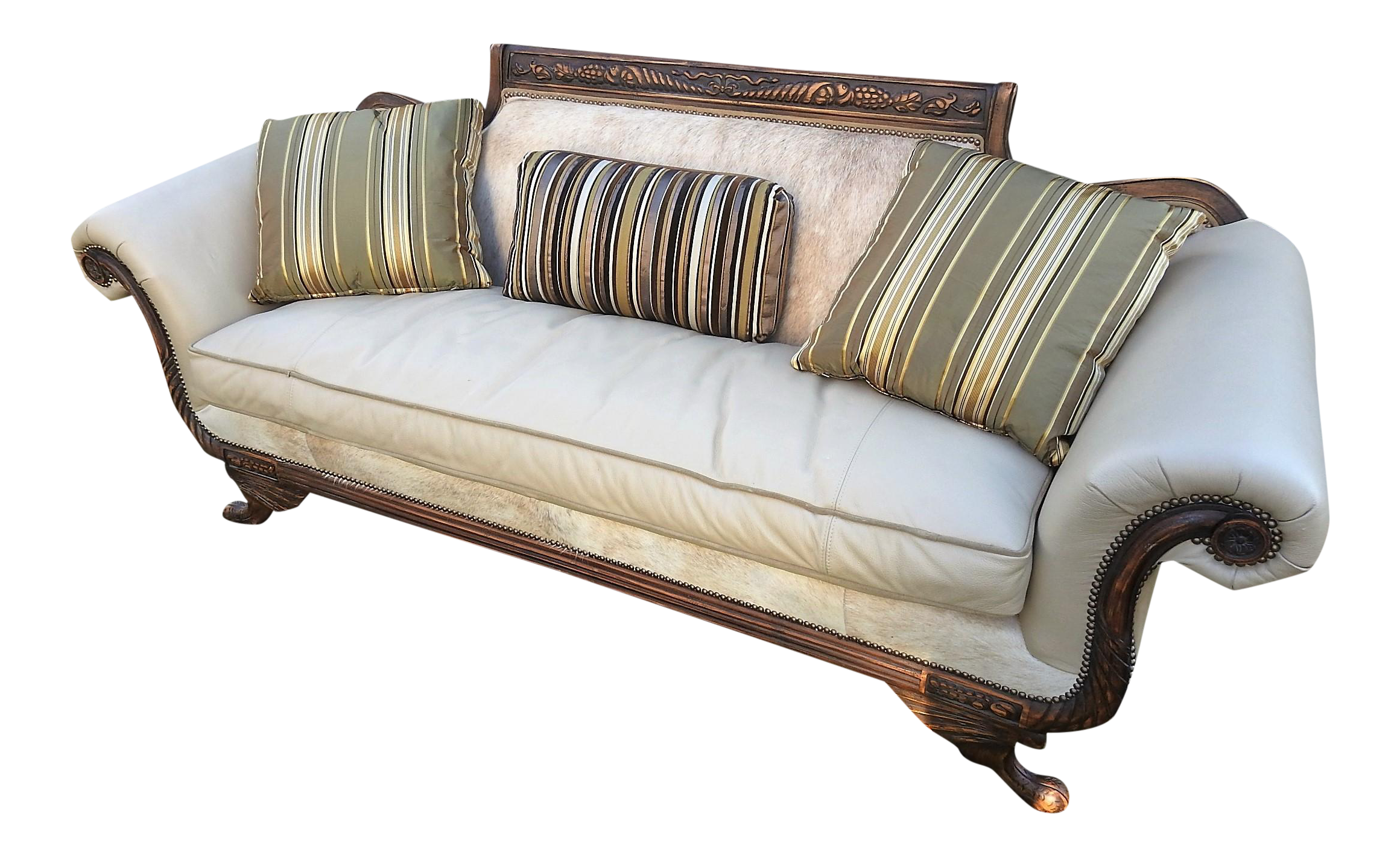 Old Hickory Tannery Horsehair U0026 Leather Sofa