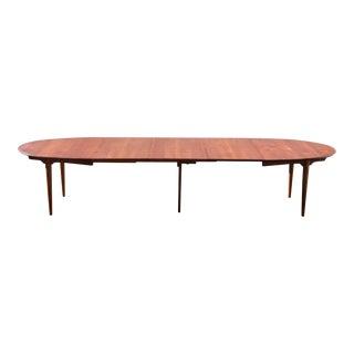 Hans J. Wegner Danish Modern Teak Oval Table For Sale