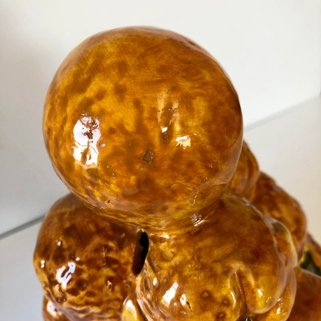 Vintage Italian Pottery Oranges Topiary For Sale In Buffalo - Image 6 of 7