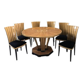 1980's Eliel Saarinen Dining Table and Chairs- 6 Pc.