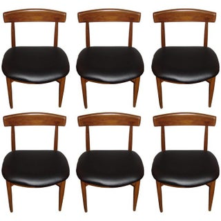 Mid-Century Danish Rosewood Dining Chairs - Set of 6 For Sale