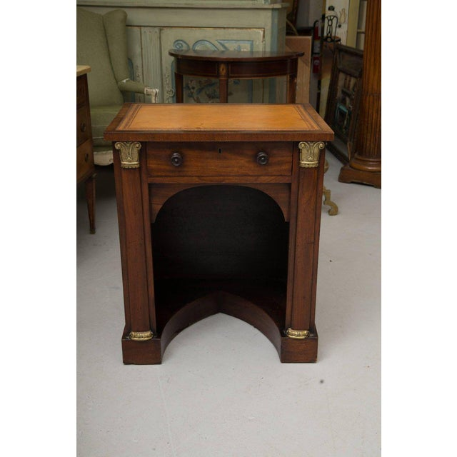 Gold 19th Century Mahogany Knee Hole Desk For Sale - Image 8 of 8