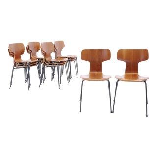 Danish Modern Arne Jacobsen Teak Stacking Chairs - Set of 12 For Sale