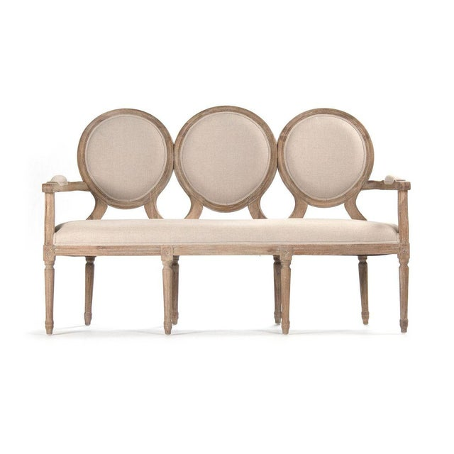 2020s Everest Medallion Settee in Beige For Sale - Image 5 of 5