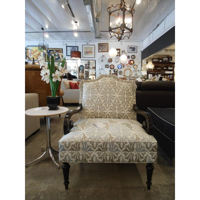 White & Silver Bergere Arm Chair - Image 2 of 10