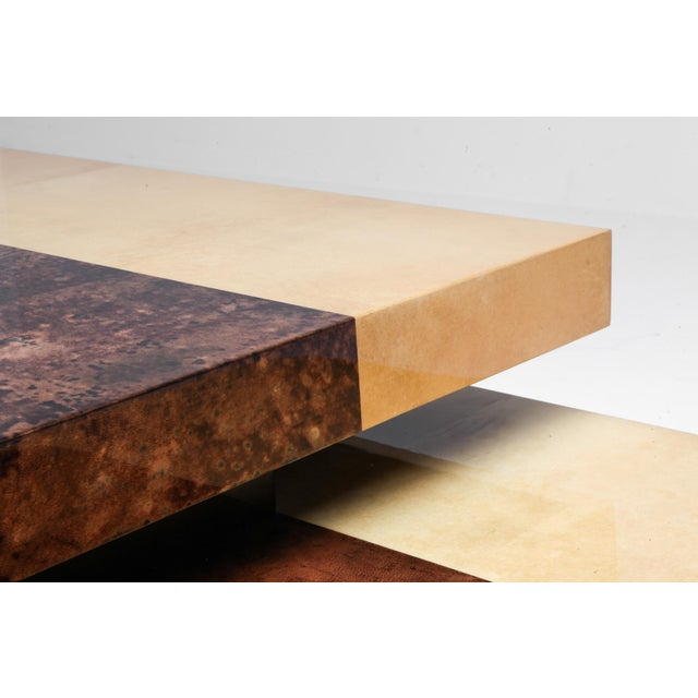 Aldo Tura Two-Tier Sliding Coffee Table For Sale - Image 10 of 12