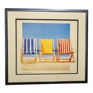 Bernie Walsh Summer Stripes Print For Sale