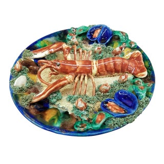 Minton Palissy Lobster Wall Plate For Sale