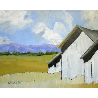 Hollister California Farm Barns Landscape Oil Painting Lynne French Art For Sale