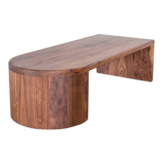 Italian Inspired 180º Waterfall Edge Table / Bench For Sale