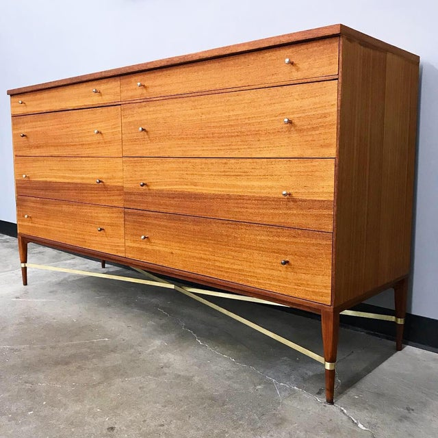 Newly Refinished 8 Drawer Mahogany Dresser by Paul McCobb for Calvin For Sale - Image 12 of 12
