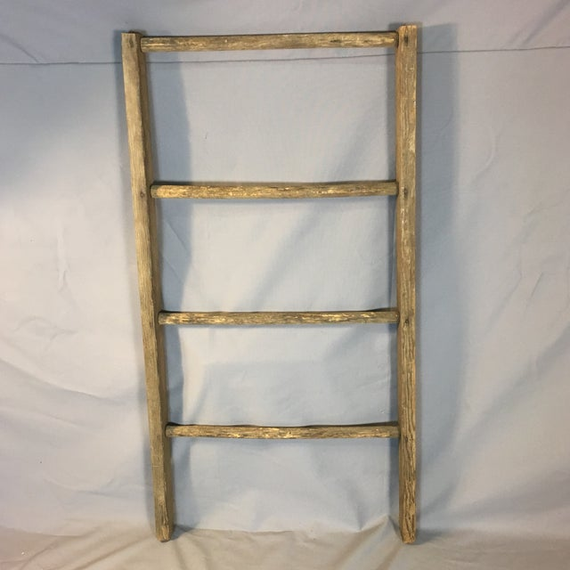 Tan Rustic Country Decorative Ladder For Sale - Image 8 of 8