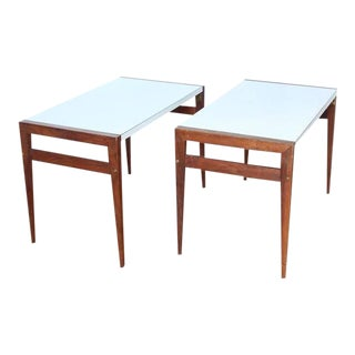 John Keal for Brown Saltman Mid-Century Side Tables - A Pair For Sale