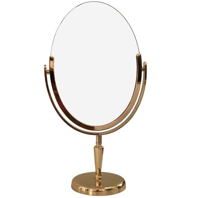 Brass Brass Vanity Mirror by Charles Hollis Jones For Sale - Image 8 of 8