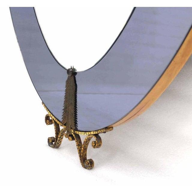 World-Class Oval Cheval Art Deco Floor Mirror with Shelf Vanity | DECASO