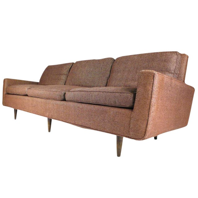 Early Florence Knoll Down-Filled Sofa For Sale