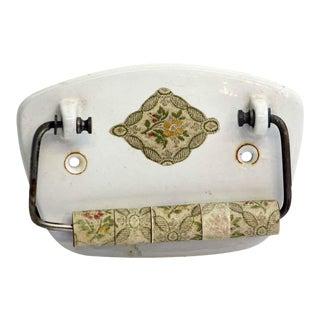 Vintage Floral Toilet Paper Holder