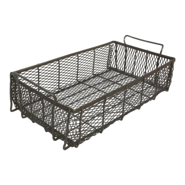 Industrial Metal Mesh Container With Handles For Sale