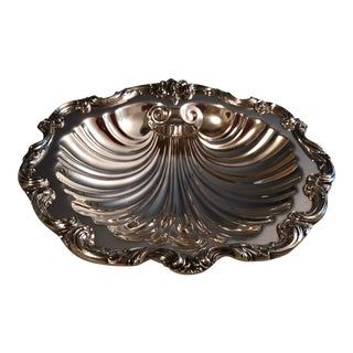 W. SB Blackinton Silver Plate Clam Shell Dish For Sale