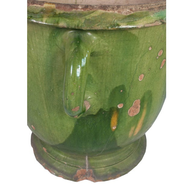French Toulouse Green Provencal Pot For Sale - Image 3 of 5