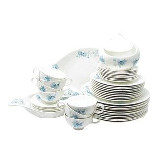 Vintage Eva Zeisel for Hallcraft Frost Flowers Dinnerware Set - 48 Pieces For Sale