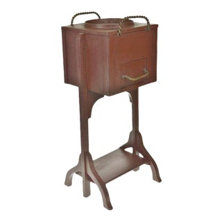 Vintage Wooden Smoking Stand For Sale