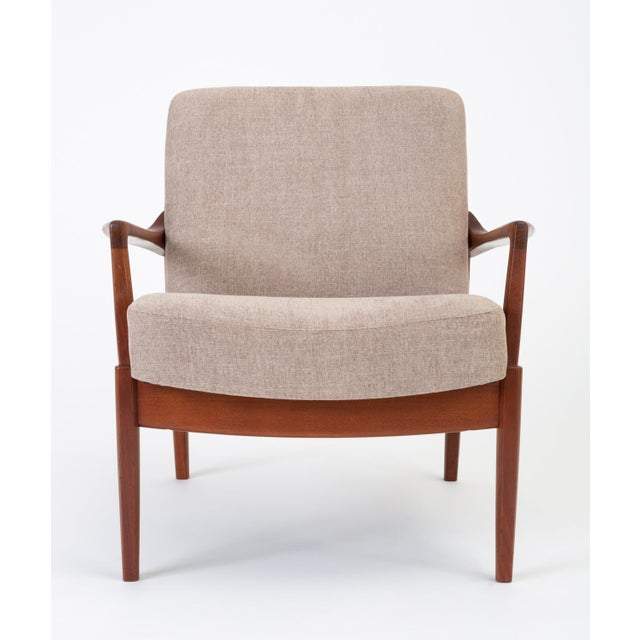 Gold Model 125 Lounge Chair by Tove & Edvard Kindt-Larsen for France & Son For Sale - Image 8 of 13