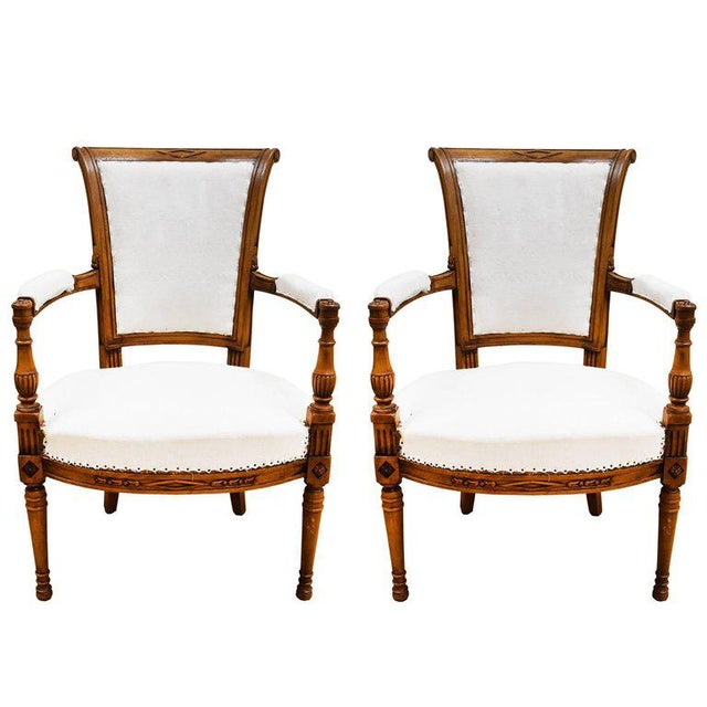 Late 19th Century French Directoire Style Armchairs - a Pair For Sale - Image 10 of 10